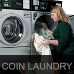 coin laundry button